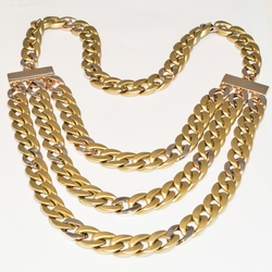mnec-fsh-33-e5 Ladies Gold Light Weight Fashion Necklace