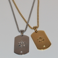 mnec-ss-0102-e1 Star of David Tag Necklace SPECIAL