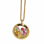 MNEC-SS-05-D1-GLD Ladies Gold Plated Stainless Steel Necklace