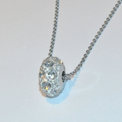 mnec-ss-220-e3 Crystal Studded Fireball with Necklace (3 Tones available)