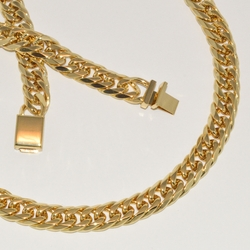 mset-ss-115-e1 Man Stainless Steel Cuban Link Set (w/Gold Plating)