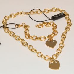 mset-ss-225-e4 Ladies Bold Heart Set (2 Tones Available)