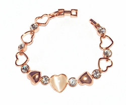 Rose Gold Hearts bracelet