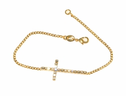 1-0662-1-D1 Sideways Cross Bracelet