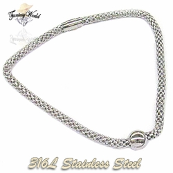 SSNEC-02-C1 Round Mesh Ball Necklace