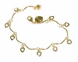 1-0759-D1 Young ladies Hearts bracelet