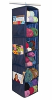 6 Shelf Yarn & Craft Organizer Navy