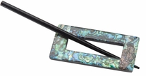 Abalone Rectangle Shaped Shawl Pin