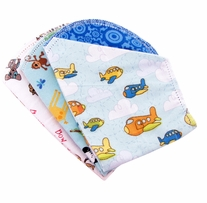 Ammee's Babies Burp Cloth Bundle Boys Hemstitched Burps 3/Pkg