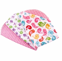 Ammee's Babies Burp Cloth Bundle Girls Hemstitched Burps 3/Pkg