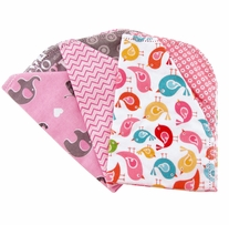 Ammee's Babies Large Baby Bib Bundle Girls Hemstitched Bibs 3/Pkg