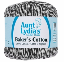 Aunt Lydia's Baker's Cotton Crochet Thread Black