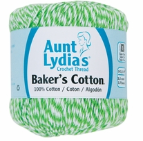 Aunt Lydia's Baker's Cotton Crochet Thread Green