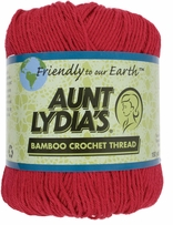 Aunt Lydia's Bamboo Crochet Thread Size 3 Pagoda Red