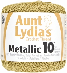 Aunt Lydia's Metallic Crochet Cotton - Click to enlarge