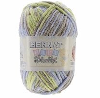 Bernat� Baby Blanket� Big Ball Yarn Little Boy Dove