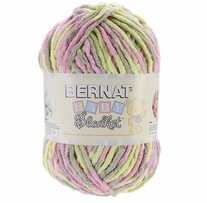 Bernat� Baby Blanket� Big Ball Yarn Little Girl Dove