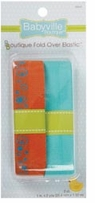Babyville Boutique Fold Over Elastic Orange, Turquoise