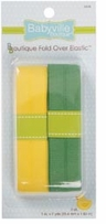 Babyville Boutique Fold Over Elastic Solid Yellow & Solid Green