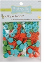 Babyville Boutique Snaps Playful Pond Green, Blue, Orange