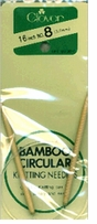 Bamboo Circular Knitting Needles 16in Size 8 5mm