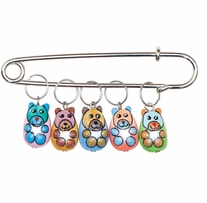 Bears Stitch Markers Sizes 0 To 10 5/pkg