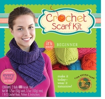 Beginner Crochet Scarf Kit Dusty Rose