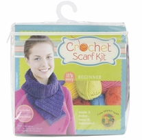 Beginner Crochet Scarf Kit Purple