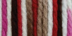 Bernat Big Ball Chunky Ombre Yarn Chocolate Cherry - Click to enlarge