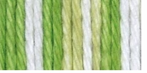 Bernat Handicrafter Cotton Stripes Yarn Lime