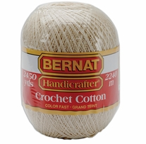Bernat Handicrafter Crochet Cotton Thread Ecru