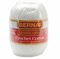 Bernat Handicrafter Crochet Cotton Thread White
