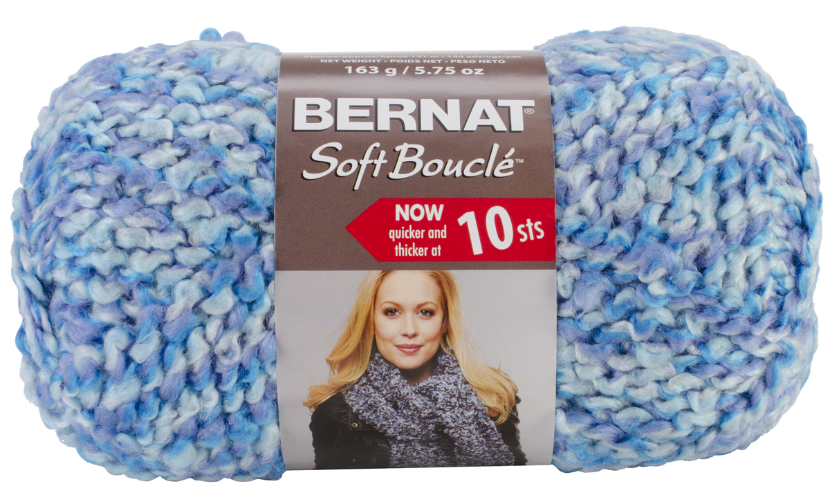 Free Crochet Patterns For Boucle Yarn : Bernat Soft Boucle Yarn