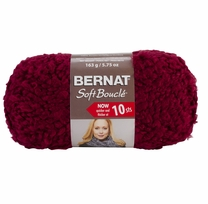 Bernat Soft Boucle Yarn Super Bulky Bordeaux