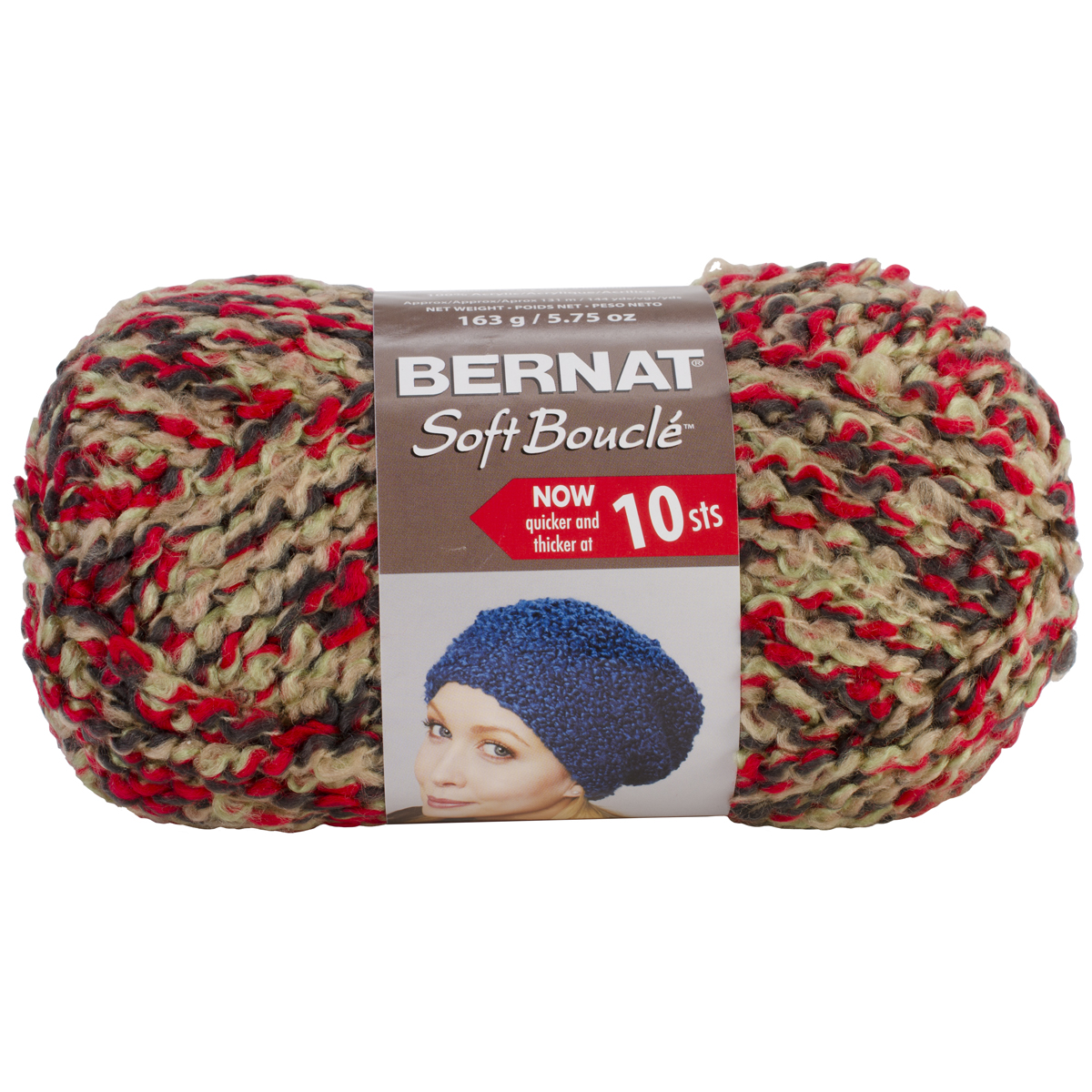 Super Bulky Yarn : ... Soft Boucle Yarn ? Bernat Soft Boucle Yarn Super Bulky Chili Peppers