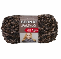 Bernat Soft Boucle Yarn Super Bulky Earth Shades