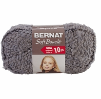 Bernat Soft Boucle Yarn Super Bulky Grey Heather