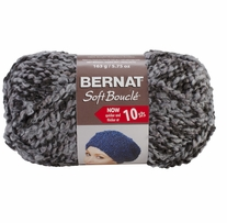 Bernat Soft Boucle Yarn Super Bulky Grey Shades