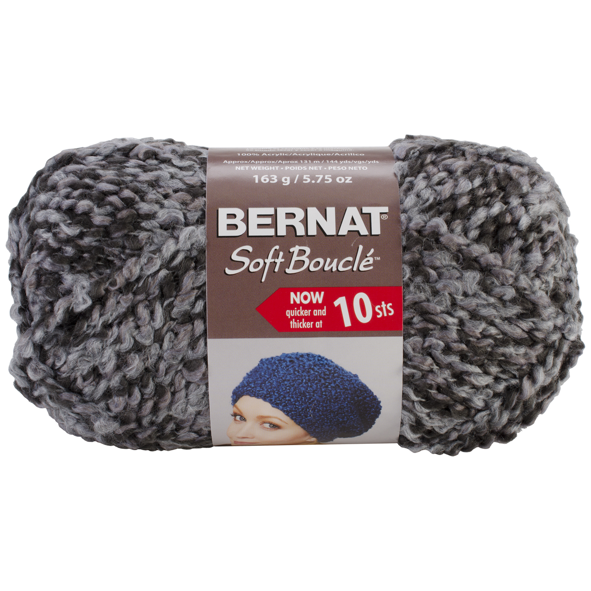... Soft Boucle Yarn ? Bernat Soft Boucle Yarn Super Bulky Grey Shades