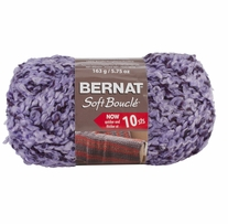 Bernat Soft Boucle Yarn Super Bulky Lavender