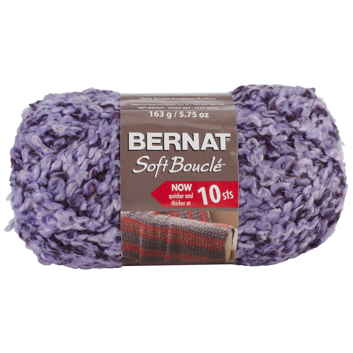 Super Bulky Yarn : ... Soft Boucle Yarn ? Bernat Soft Boucle Yarn Super Bulky Lavender