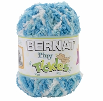 Bernat Tiny Tickles Yarn Hot Blue