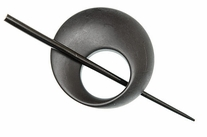 Black Mobius Shawl Pin