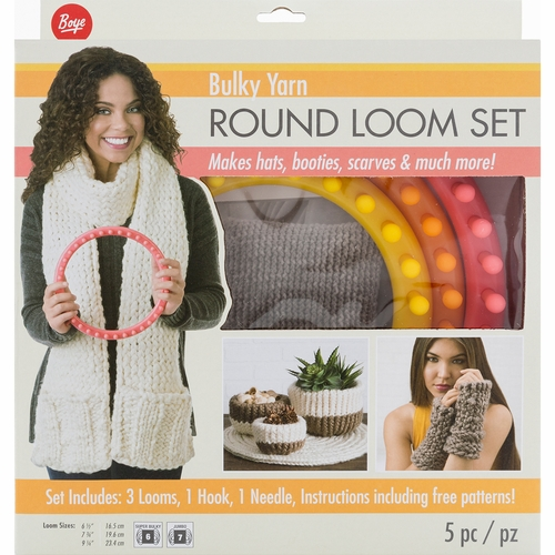 Boye Loom Knitting Stitches : Boye  Circular Bulky Loom Set