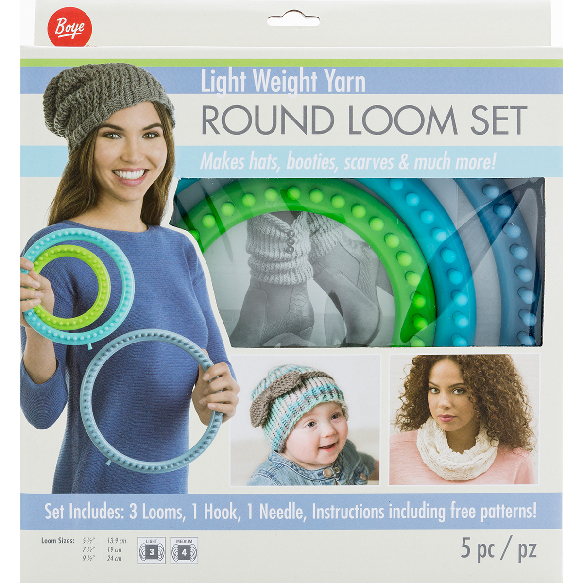 Boye Loom Knitting Stitches : Boye  Circular Fine Loom Set
