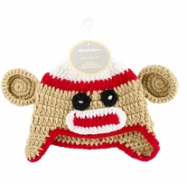 Boye Crocheted Hats For Babies Sock Monkey