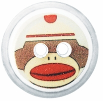 ButtonTHIS Novelty Buttons 1in Sock Monkey