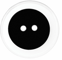 ButtonTHIS Solid Color Buttons 1in Black 4/Pkg