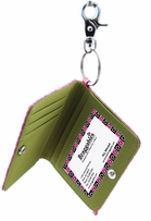 Card Case Key Ring Wet Croco Collection Kiwi
