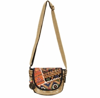 Catori Flap Over Crossbody Tote Kutch 8.5in x 3.5in x 8in